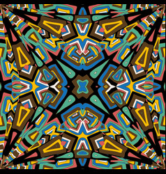 abstract mosaic kaleidoscope background vector image
