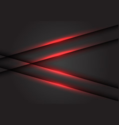 abstract red light line arrow on dark grey vector image