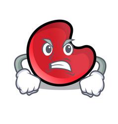 angry candy moon mascot cartoon vector image