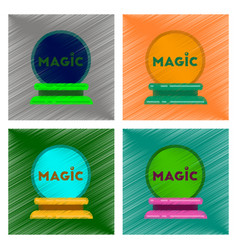 Assembly flat shading style icon magic ball vector