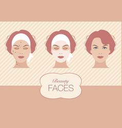 beauty face-01 vector image