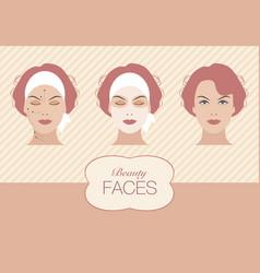 Beauty face-01 vector