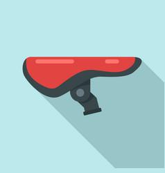 bike saddle icon flat style vector image