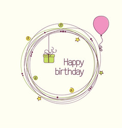 Birthday wreath vector