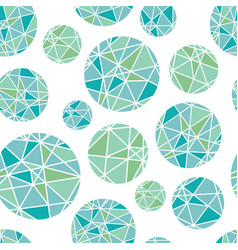 Blue green geometric mosaic circles with vector