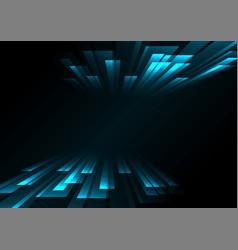 Blue overlap stripe rush in dark background vector
