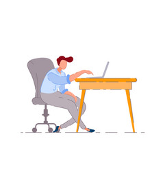bored worker isolated bored lazy business man vector image