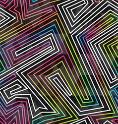 bright neon seamless pattern vector image
