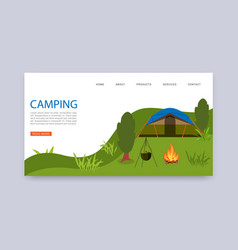 camping in nature travel agency services vector image