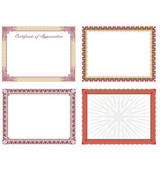 Certificate borders 1 vector