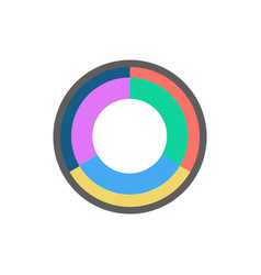 circle business concepts template for infographic vector image