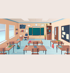 classroom interior school or college room with vector image