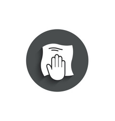 Cleaning cloth simple icon wipe with a rag vector