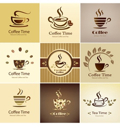 coffee icons big set vector image
