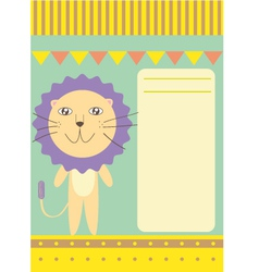 colorful lion card vector image