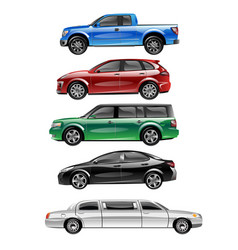 different passenger car vector image