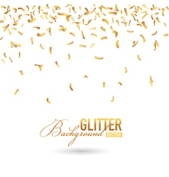 Fallen golden glitter or confetti background vector