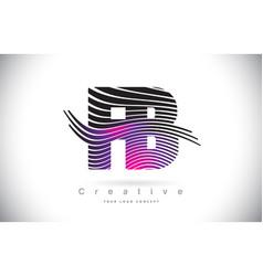 Fb f b zebra texture letter logo design with vector