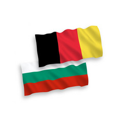 Flags belgium and bulgaria on a white vector