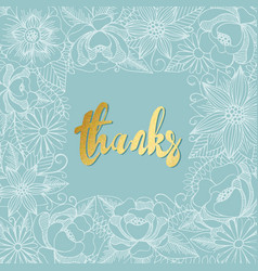 Flower frame for design greeting cards vector