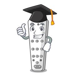 Graduation cartoon infrared remote control for tv vector