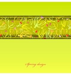 Green sprig background vector