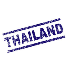 grunge textured thailand stamp seal vector image