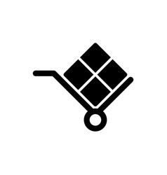 handcart shipmentfreight delivery icon simple vector image