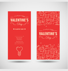 happy valentines day vertical banners vector image