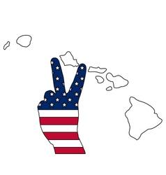 Hawaiian hand signal vector image