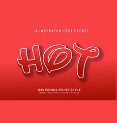 hot text effect vector image