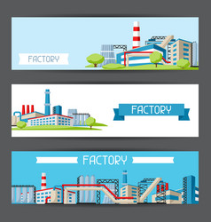 industrial factory banners vector image