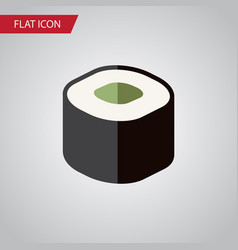 isolated japanese food flat icon salmon rolls vector image