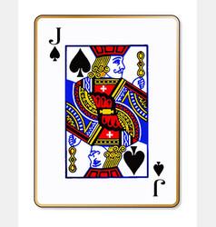 Jack spades vector