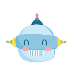 kids toys robot head cartoon isolated icon design vector image