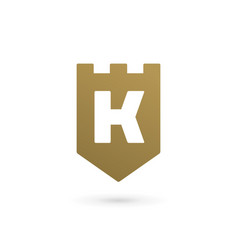 Letter k shield logo icon design template elements vector