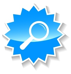 Loupe blue icon vector