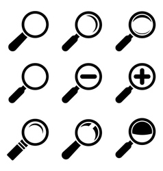 Magnifier Glass Icons vector