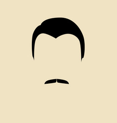 man face with mustache vector image