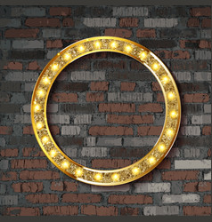 marquee light circle board sign vector image
