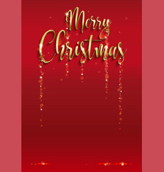 merry christmas empty background sparkly rain vector image