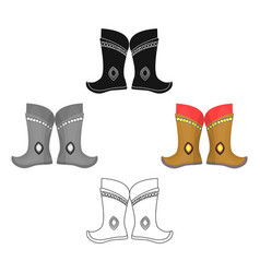 military boots mongolspart national vector image