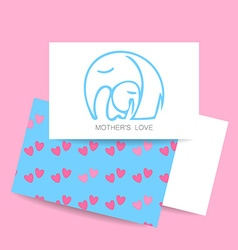 mom love logo vector image