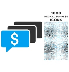 Money Messages Icon with 1000 Medical Business vector