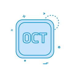 october calender icon design vector image