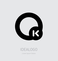 ok design element or icon monogram logotype o vector image