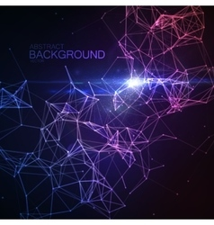 Plexus Lines And Particles Background vector