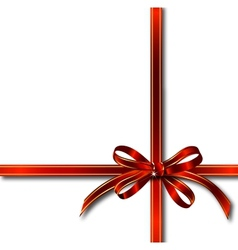 Red Gift Ribbon Over White vector image