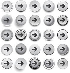 Round grey arrow icons vector image