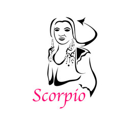 scorpio woman vector image